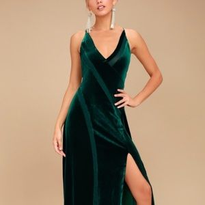Free People spiced green forest maxi dress